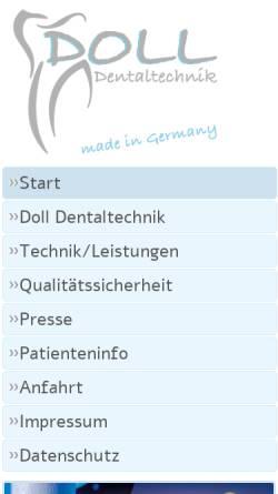 Vorschau der mobilen Webseite www.doll-dentaltechnik.de, D&O Dentaltechnik GmbH