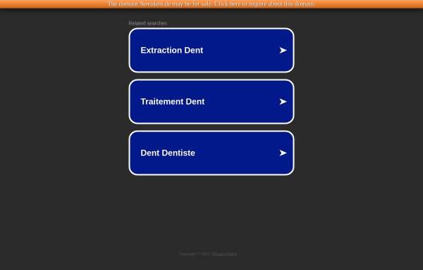 Vorschau von www.novident.de, NoviDent GmbH