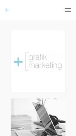 Vorschau der mobilen Webseite www.grafik-marketing.com, Bettina Neuer | grafik + marketing