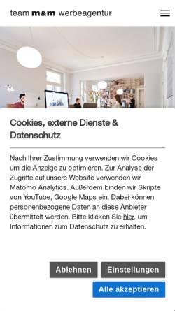 Vorschau der mobilen Webseite team-mm.de, Team M&M GmbH und Co. KG