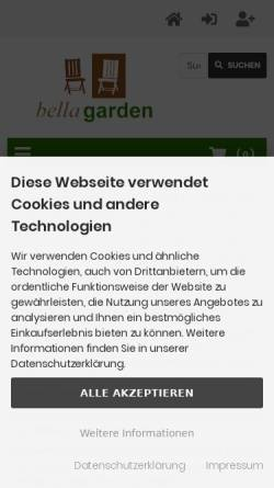 Vorschau der mobilen Webseite www.bellagarden24.de, Bella Garden - Inh. Thomas Hoppen