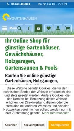 Vorschau der mobilen Webseite www.mygartenhaus24.de, Dawy GbR