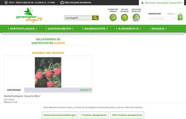 Vorschau von www.gartencenter-shop24.de, Gartencenter, Baumschule Shop24