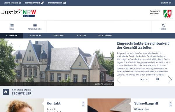 Vorschau von www.ag-eschweiler.nrw.de, Amtsgericht Eschweiler