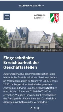 Vorschau der mobilen Webseite www.ag-eschweiler.nrw.de, Amtsgericht Eschweiler