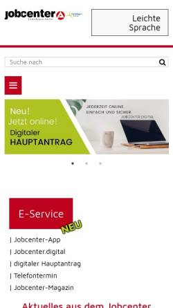 Vorschau der mobilen Webseite www.arge-staedteregion-aachen.de, ARGE in der StädteRegion Aachen