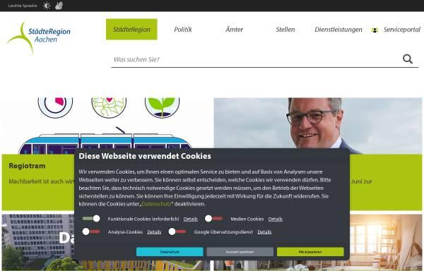 Vorschau von www.kreis-aachen.de, Kreis Aachen