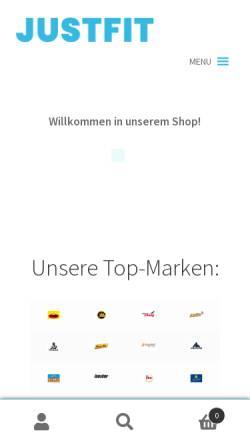 Vorschau der mobilen Webseite www.just-fit.de, Just-fit.de
