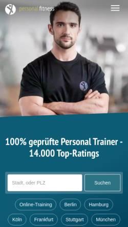 Vorschau der mobilen Webseite www.personalfitness.de, Personal Fitness