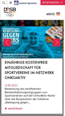 Vorschau der mobilen Webseite www.richtigfit.de, Richtig Fit