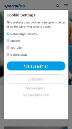 Vorschau der mobilen Webseite www.sportalis.de, Sportalis