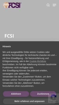 Vorschau der mobilen Webseite www.fcsi.de, FCSI Deutschland-Österreich e.V.