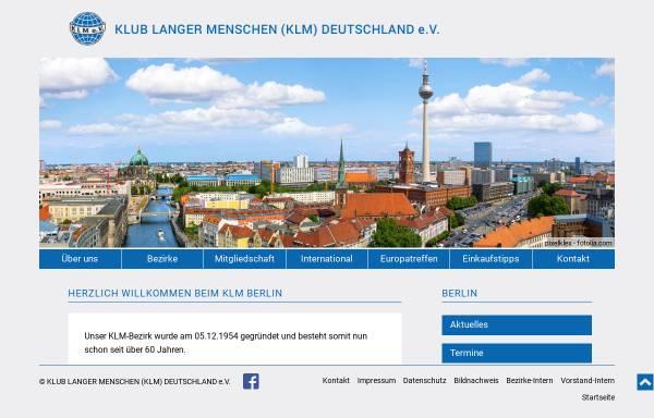 Vorschau von www.klm-berlin.de, Klub Langer Menschen Deutschland e.V. - Bezirk Berlin