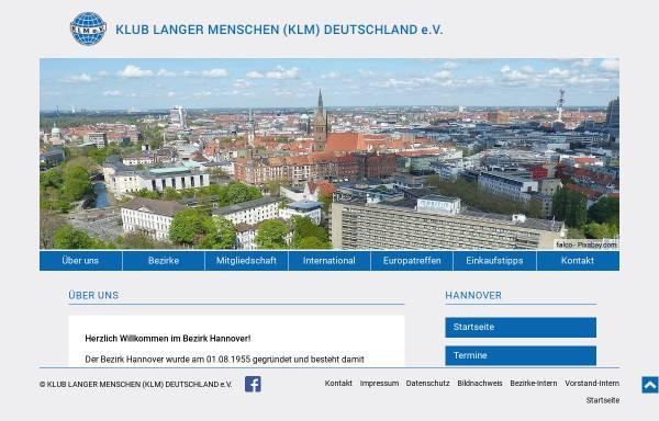 Vorschau von www.klm-hannover.de, Klub Langer Menschen Deutschland e.V. - Bezirk Hannover