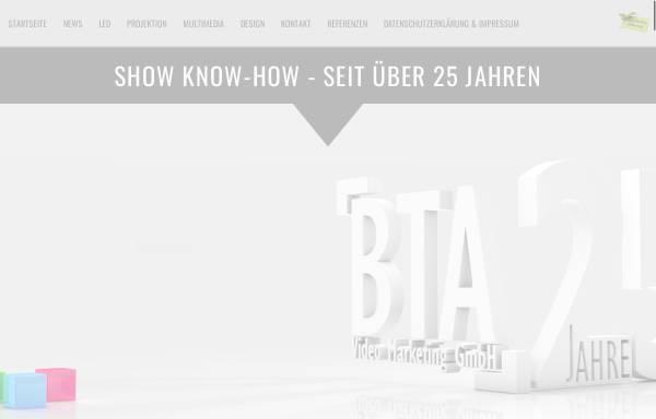Vorschau von www.bta-gmbh.de, BTA Video Marketing GmbH