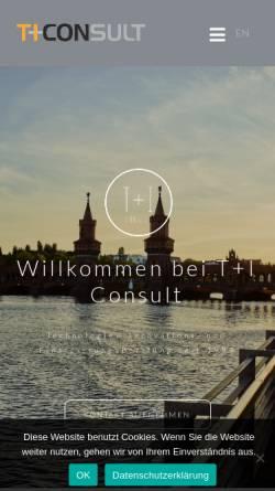Vorschau der mobilen Webseite www.ti-consult.de, Tund I Consult GmbH