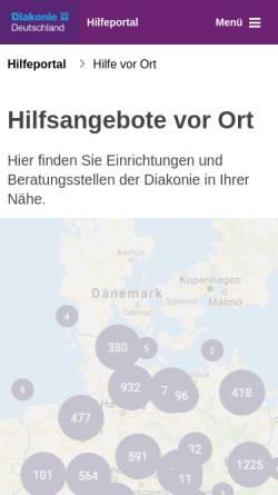 Vorschau der mobilen Webseite www.evangelische-beratung.info, Beratungsstellen der evangelischen Kirche und Diakonie