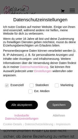 Vorschau der mobilen Webseite www.melanie-mittermaier.de, Melanie Mittermaier