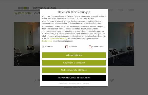 Vorschau von www.beratungspraxis-klein.de, Praxis für Systemische Therapie und Beratung Kathrin Klein