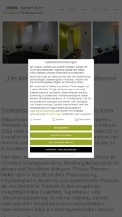 Vorschau der mobilen Webseite www.beratungspraxis-klein.de, Praxis für Systemische Therapie und Beratung Kathrin Klein