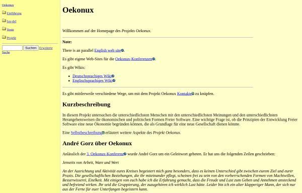 Vorschau von www.oekonux.de, Projekt Oekonux