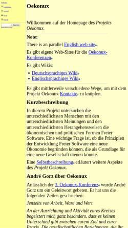 Vorschau der mobilen Webseite www.oekonux.de, Projekt Oekonux