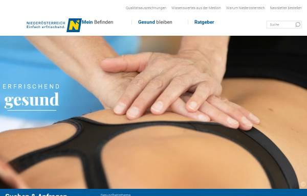 Vorschau von www.bleibgsund.at, Bleibgsund