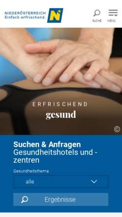 Vorschau der mobilen Webseite www.bleibgsund.at, Bleibgsund