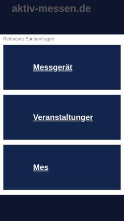 Vorschau der mobilen Webseite www.aktiv-messen.de, Lebensfreude-Messen