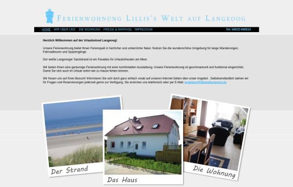 Vorschau von www.lillisweltlangeoog.de, Ferienwohnung Lilli's Welt