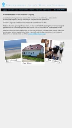 Vorschau der mobilen Webseite www.lillisweltlangeoog.de, Ferienwohnung Lilli's Welt
