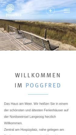 Vorschau der mobilen Webseite www.poggfred.de, Haus Poggfred