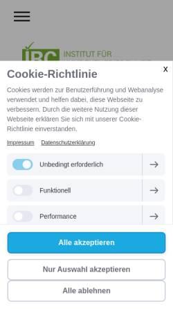 Vorschau der mobilen Webseite www.irc-austria.com, Institut für Research & Consulting
