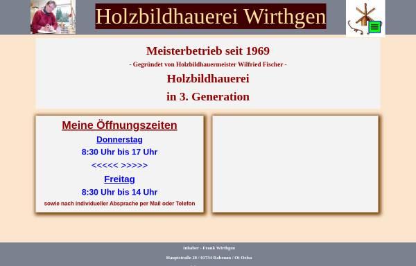 Vorschau von www.holzbild-fischer.de, Holzbildhauerei & Drechslerei Wilfried Fischer, Inh. Anett Wirthgen