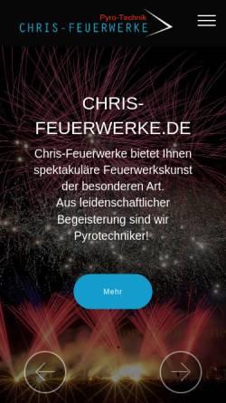 Vorschau der mobilen Webseite www.chris-feuerwerke.de, Chris-Feuerwerke, Inh. Christian Grotzki