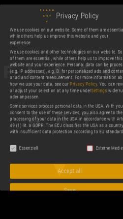 Vorschau der mobilen Webseite flashart.com, Flash Art GmbH