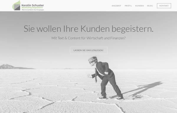 Vorschau von www.kerstinschuster.de, Kerstin Emmy Schuster