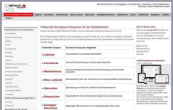 Vorschau von www.lektorat.de, Lektorat.de