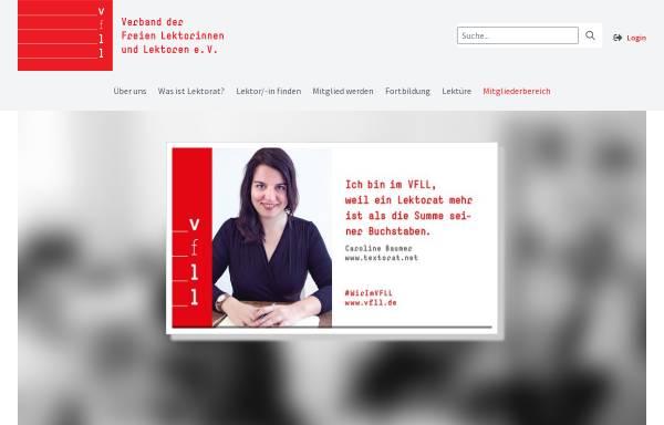 Vorschau von vfll.de, Verband der Freien Lektorinnen und Lektoren (VFLL)