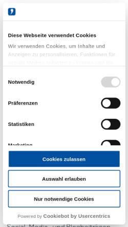 Vorschau der mobilen Webseite www.wienersundwieners.de, Wieners+Wieners GmbH
