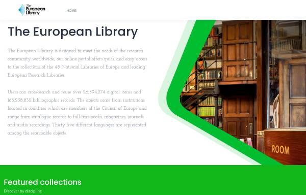 Vorschau von www.theeuropeanlibrary.org, The European Library