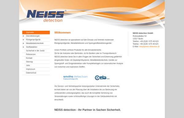 Vorschau von www.neiss-detection.de, Neiss Detection GmbH