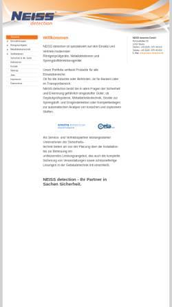 Vorschau der mobilen Webseite www.neiss-detection.de, Neiss Detection GmbH