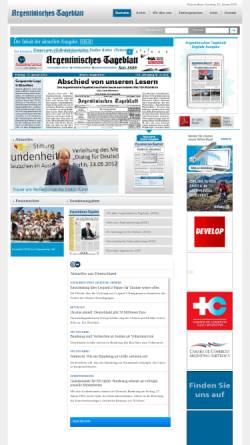 Vorschau der mobilen Webseite www.tageblatt.com.ar, Argentinien, Argentinisches Tageblatt