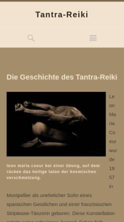 Vorschau der mobilen Webseite www.tantra-reiki.de, Tantra-Reiki