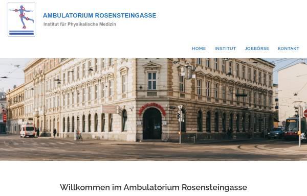 Vorschau von www.ipm-rosensteingasse.at, Ambulatorium Rosensteingasse