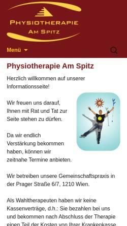 Vorschau der mobilen Webseite www.physioas.at, Physiotherapie am Spitz