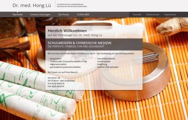 Vorschau von www.dr-lue.de, Dr. med. Hong Lü