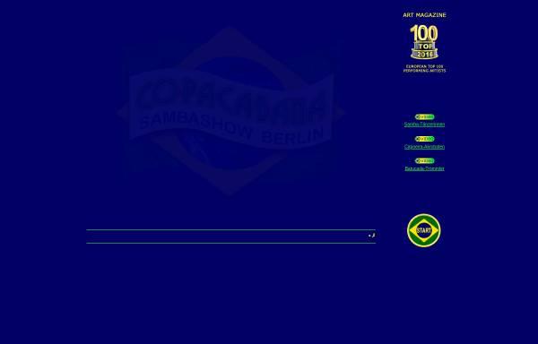 Vorschau von www.sambashow.berlin, Axe Brasil - Samba Show Berlin