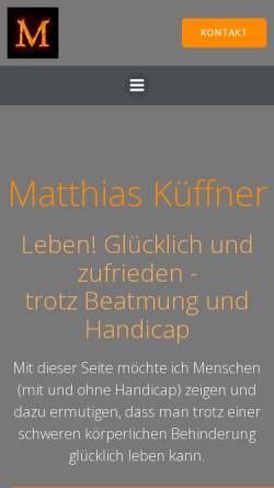 Vorschau der mobilen Webseite www.m-kueffner.de, Küffner, Matthias